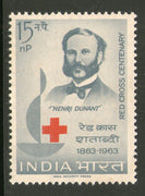 India 1963 Red Cross Centenary Henry Dunant Phila-383 / Sc 373 MNH