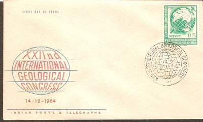 India 1964 Geological Congress Phila-410 FDC
