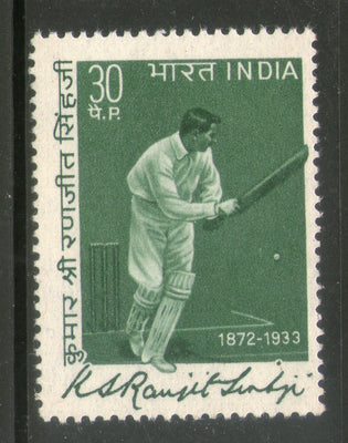 India 1973 Personalities Ranjitsingh Cricketer Sport Phila-587 MNH