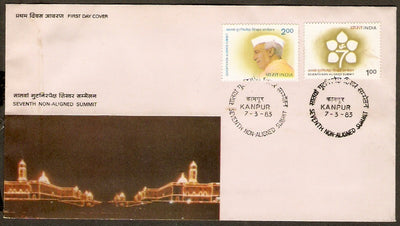India 1983 Summit Conference Jawaharlal Nehru Phila-923-24 FDC+Blank Folder