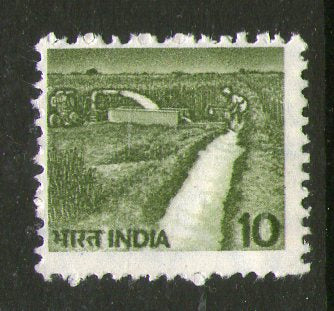India 1982 6th Def. Series - 10p Irrigation 1v WMK Up Right Phila-D117 / SG922a MNH - Phil India Stamps