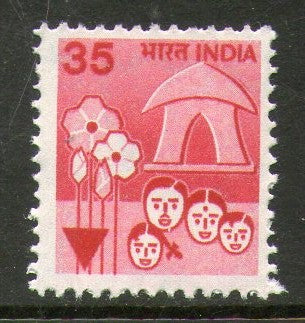 India 1982 6th Def. Series -35p Family Planning 1v WMK To Left Phila-D123/SG927a MNH - Phil India Stamps