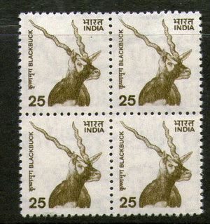India 2000 9th Def. Series Nature Heritage Black Buck Deer BLK/4 Phila-D160/Sg1923 MNH - Phil India Stamps