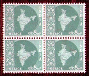India 1958 8p Map of India Definitive Series WMK-Ashokan Phila-D57 Blk/4 MNH - Phil India Stamps