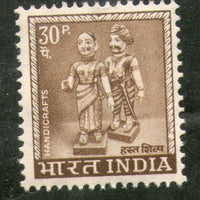 India 1967 30p Indian Dolls 4th Definitive Series Ashokan 1v Phila- D79 MNH - Phil India Stamps