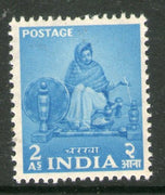 India 1955 2nd Definitive Series Five Year Plan - 2As Charkha 1v Phila-D24 MNH - Phil India Stamps