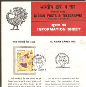 India 1982 IX Asian Games Sports Appu Phila-904 Cancelled Folder