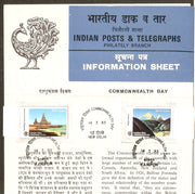 India 1983 Commonwealth Day Mountain Temple Phila-925-26 Cancelled Folder
