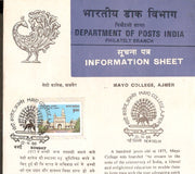 India 1986 Mayo College Ajmer Phila-1038 Cancelled Folder