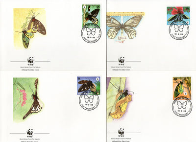 Papua New Guinea 1988 WWF Butterfly Moth Insect Wildlife Sc 699-70 FDCs # 70