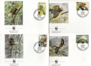 St. Vincent 1989 WWF Amazon Parrot Bird Wildlife Fauna Sc 1184-88 Set of 4 FDCs # 81 - Phil India Stamps