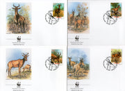 Mozambique 1991 WWF Lichtenstein's Hartebeest Antelope Deer Wildlife Animal Mammals FDCs # 108 - Phil India Stamps