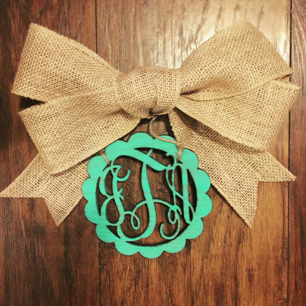 Personalized Monogram Car Charm  - custom rear view mirror  - car accessory - car decoration mirror charm