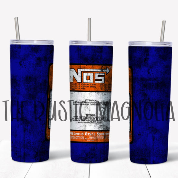 NOS grunge Stainless steel tumbler 20 ounce