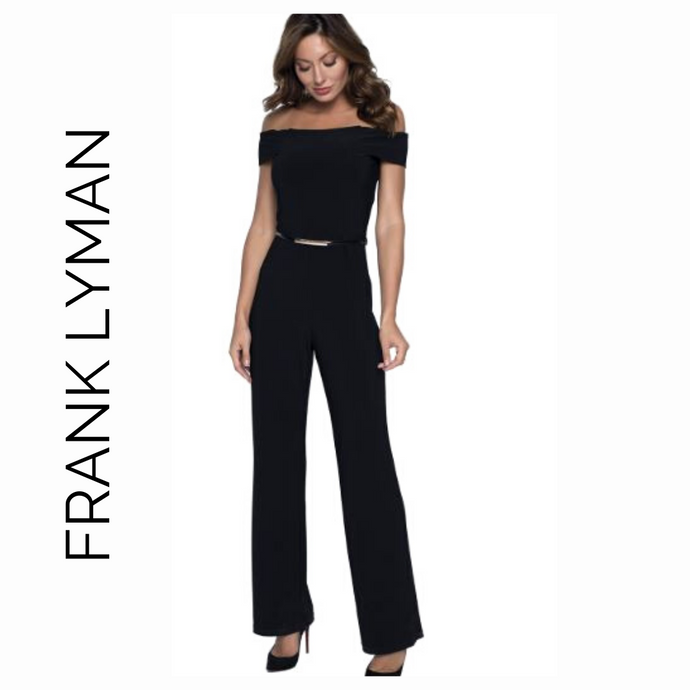Frank Lyman Navy Blue Jumpsuit with Belt