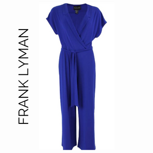 Frank Lyman Blue Jumpsuit with Lapels