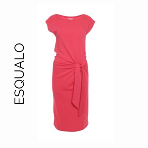 Esqualo Coral Short Sleeve Dress with Tie