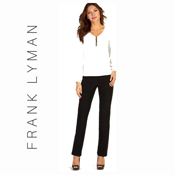 Frank Lyman Charcoal Pants Style - 017  Basics Collection