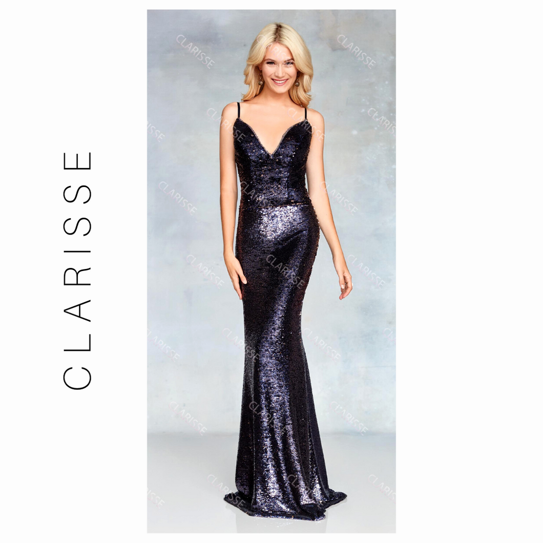 CLARISSE Full Sequined HEATHER/GOLD SIZE 14