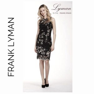 Frank Lyman Black and Cream Lace dress 189288