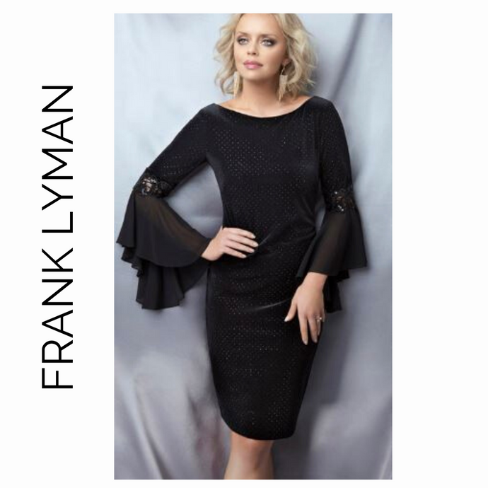 Frank Lyman Black Long Sleeved Sequined 189352