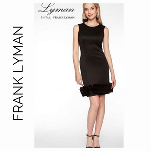 Frank Lyman Little Black Ruffle Trim Dress 198114U