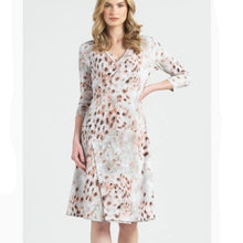 Load image into Gallery viewer, Clara Sun Woo Python Pink Faux Wrap Dress