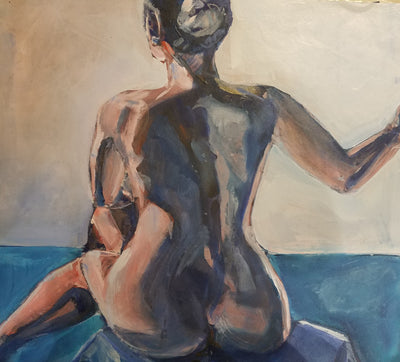 "Figure, ""Seated Nude"" - Sunny-Creek-Studios"