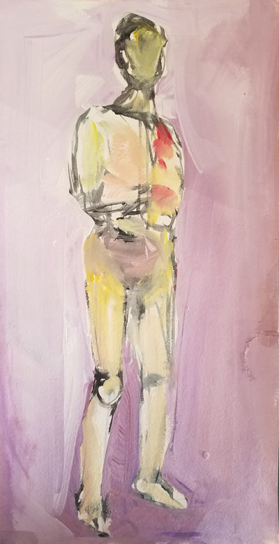 "Original Art, Figure, ""Standing Nude"" - Sunny-Creek-Studios"