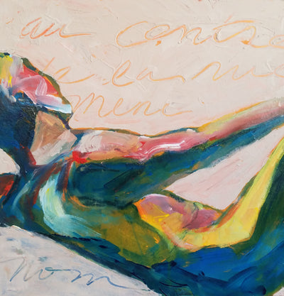 "Original Art, Figure, ""Reclining Nude"" - Sunny-Creek-Studios"