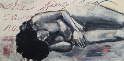 "Original Art: Figure, ""Reclining Nude"" - Sunny-Creek-Studios"