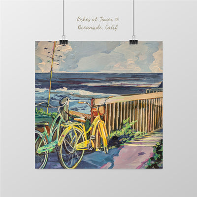 Bikes at Tower 15, Oceanside - Sunny-Creek-Studios