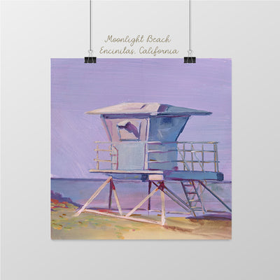 Moonlight Beach Lifeguard Tower, Encinitas - Sunny-Creek-Studios