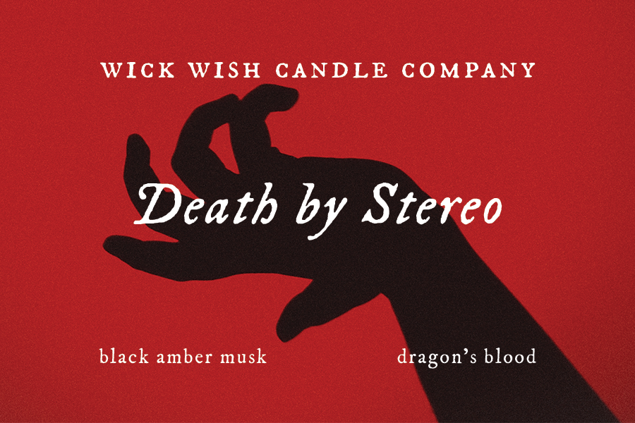 Death by Stereo | Black Amber Musk. Dragon's Blood. | Wax Melt