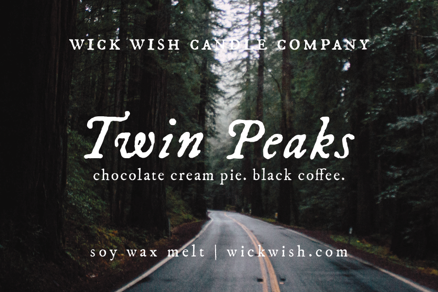 Twin Peaks | Chocolate Cream Pie. Black Coffee. | Wax Melt