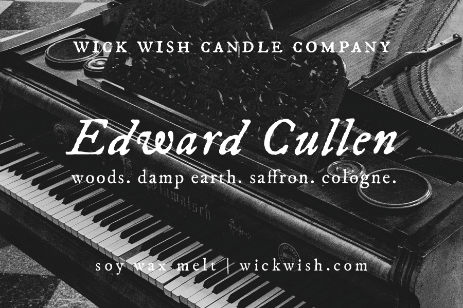Edward Cullen | Woods. Damp Earth. Saffron. Cologne. | Wax Melt