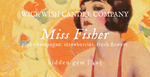 Miss Fisher | Pink Champagne. Strawberries. Fresh Flowers. | Hidden Gem
