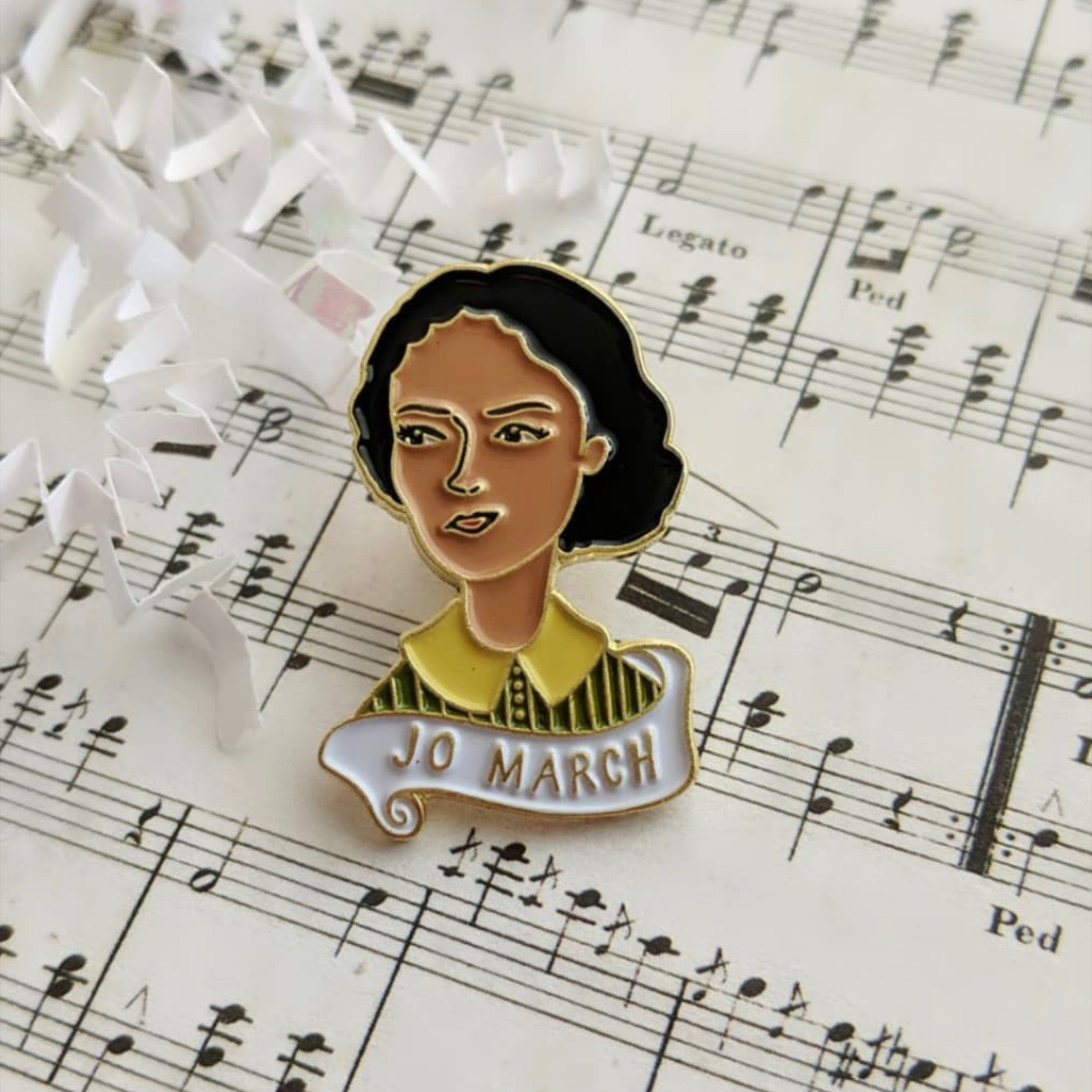 Jo March Enamel Pin