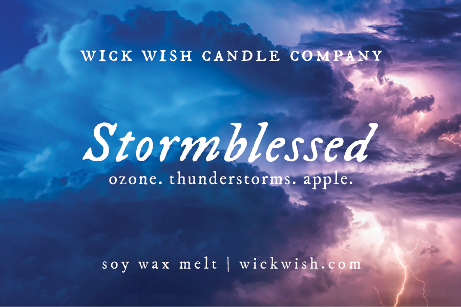 Stormblessed | Ozone. Thunderstorms. Apple. | Wax Melt