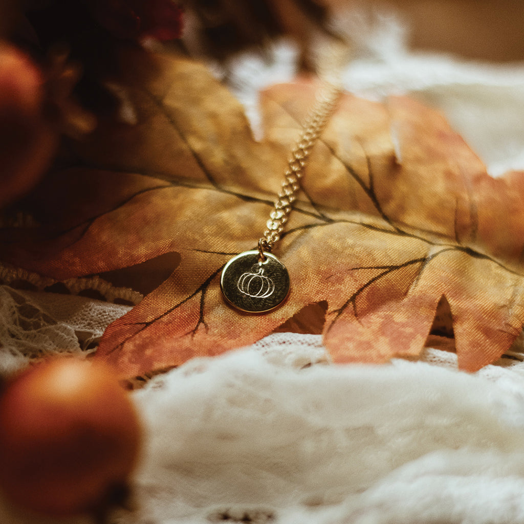 A World of Octobers | Dainty Pendant Necklace