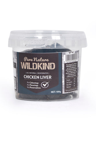Three Snouts-Pure Nature WILDKIND Chicken Liver 100g