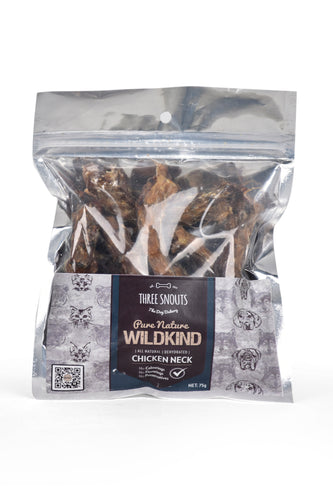Three Snouts-Pure Nature WILDKIND Chicken Necks 75g
