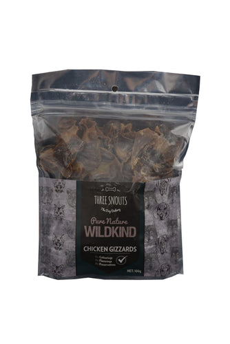 Three Snouts-Pure Nature WILDKIND Chicken Gizzards 100g
