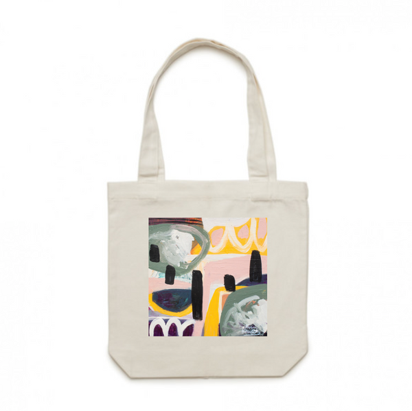 Cotton Tote Bag: Two of a Kind