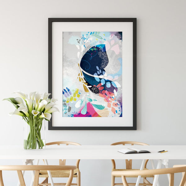 Abstract Butterfly- Art Print