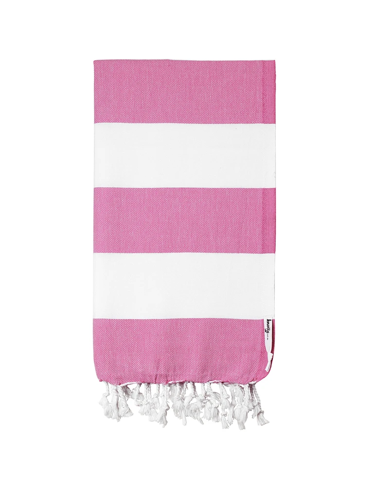 Knotty Towels- Capri Turkish Towel - BUBBLEGUM