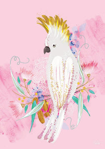 Pink Cockatoo- Art Print