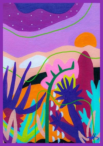 Dawn in the Desert Art Print by Adrianne Hawthorne
