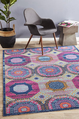 Eternal Whisper Dots Multi Rug {As Featured by @lizzyhigham_interiorstyling}