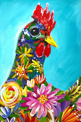 Flora the Chook - Paint along class